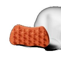 Hundebürste Groomy Bürste rot für Langhaar Hunde